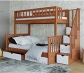 Фотография в Мебель и интерьер Мебель для спальни Кровать для семьи из 3-х человек. Укреплённый в Москве 43000