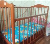 Фотография в Мебель и интерьер Мебель для детей ДЕТСКАЯ КРОВАТКА ДЕРЕВЯННАЯ НА МАЯТНИКОВОМ в Тюмени 9999