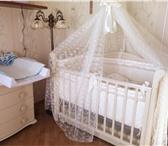 Изображение в Для детей Детская мебель Детская кроватка (маятниковый механизм) с в Рязани 10000