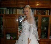 Foto в Одежда и обувь Свадебные платья Без рукавов,  с корсетом,  украшено камнями в Партизанск 8000