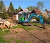 Фотография в Строительство и ремонт Другие строительные услуги Услуги мини-экскаватора + ямобур. 2 ковша в Москве 990