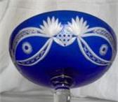 Foto в Хобби и увлечения Коллекционирование продам вазу фруктовницу синего резного сткла в Тамбове 10000