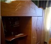 Foto в Мебель и интерьер Мебель для спальни Продам кровать+стол+шкаф. 3в1 для ребенка. в Уфе 5000